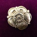 Sterling Silver Tudor Rose button Hallmarked London