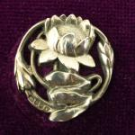 Art Nouveau Lily Sterling Silver London 1903 button