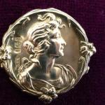 Art Nouveau Lady Silver Hallmarked Birmingham 1904