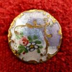 French Antique Enamel button