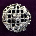 Sterling Silver London 1901 Lattice button