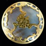 Fretwork Encased Grey Mother-of-Pearl Large button