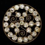 Diamonte Dress Ornament button