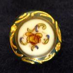 Porcelain Floral button