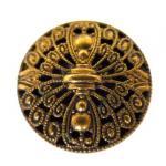 Unusual Brass Filigree Mirror-back button