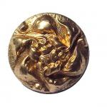 Gilt Brass 'Chanel' 1930's button (No.00231)