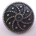 Antiqued Silver Swirl button (No.00097)