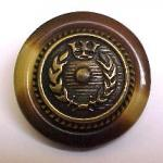 Tortoiseshell Brass Button (No.00101)