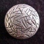 Silver Dome Gashed Button (No.00105)