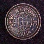 New Republic button (No.00140)