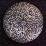 Japanese Bronze Flower button (No.00144)