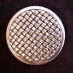 Large Silver basketweave button (No.00168)