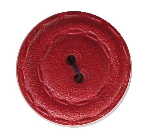 Red Wooden button