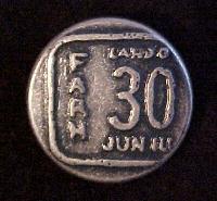 Farah 30 Jeans-style button (0099)