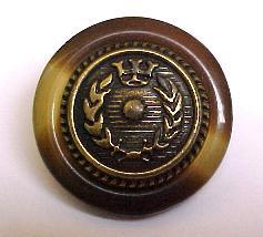 Tortoiseshell Brass Button (No.00101)