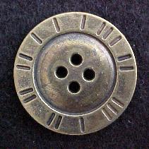 Brass 4-hole Button (No. 00104)