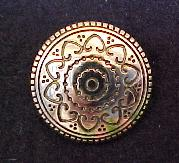 Gold Brass Decorated button (No.00141)