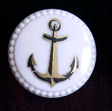 Gold and Black Anchor button (No.00173)