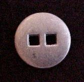 Metal Square Hole button (No.00181)