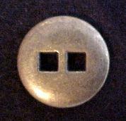 Brass Square Hole button (No.00182)